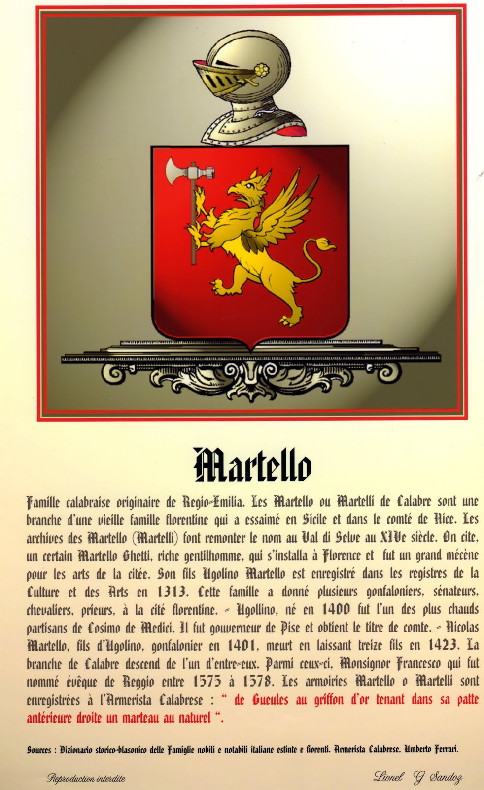 BLASON FAMILLIALE