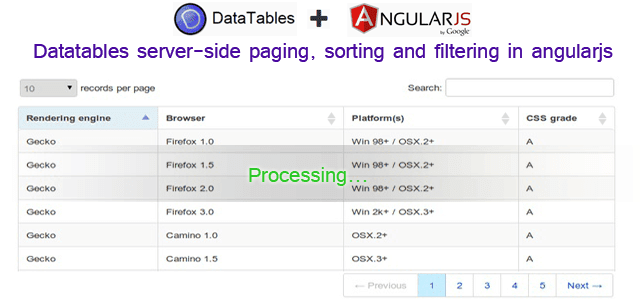 Part 2 - Datatables server-side paging, sorting and filtering in