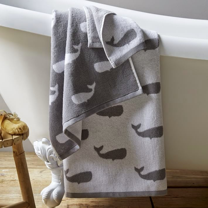 West Elm nautical sheets and towels
