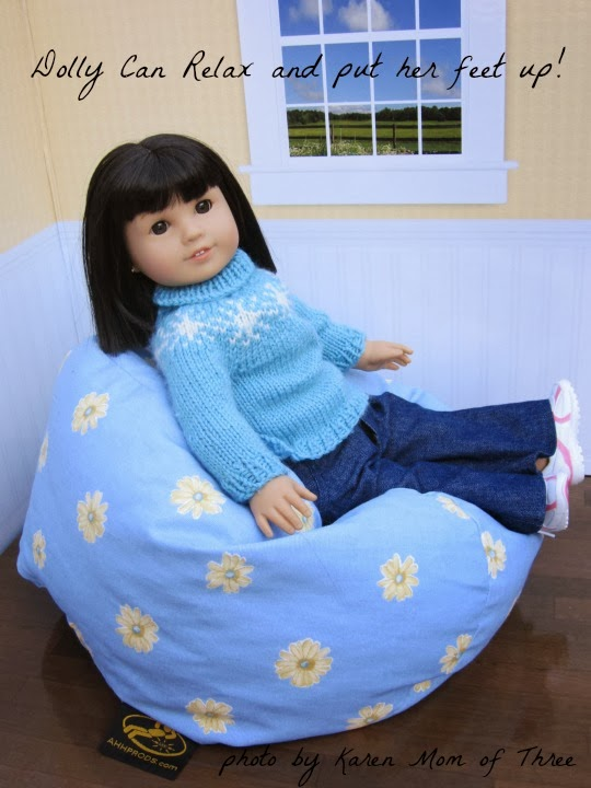 Bean Bag Chair It Makes Tea Parties And Doll Play More Independent I Love That Our Bitty Baby Can Use The Just As Easily 18 Inch Dolls