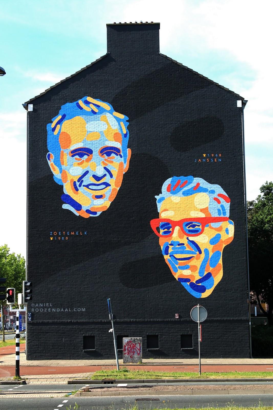 Graffiti wall utrecht - Utrecht Thomas Kempisplantsoen Netherlands Cycle Racer Zoetemelk Janssen