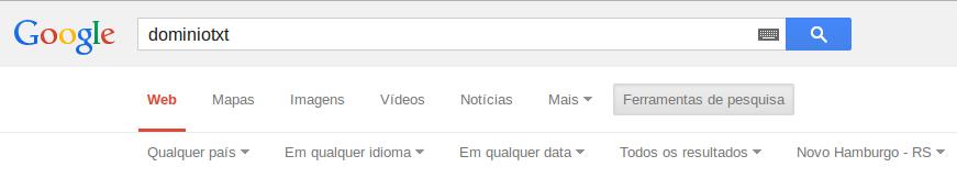 DominioTXT - Google pesquisa