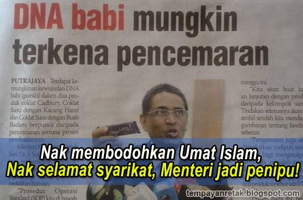 Nak membodohkan Umat Islam Nak selamat syarikat Menteri Kesihatan jadi penipu