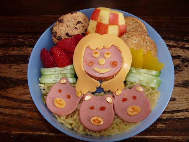 goldilocks bears bento