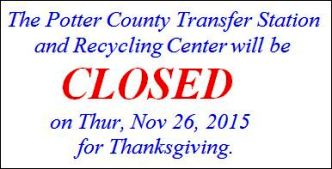 11-26 Transfer Station Closed