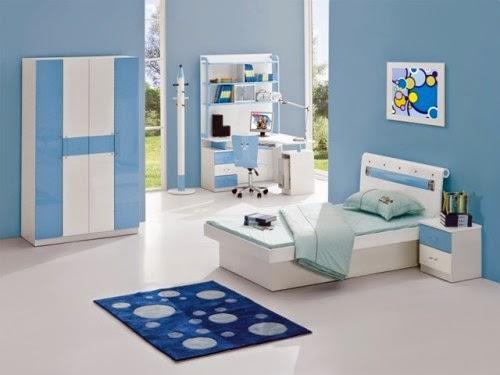 Contoh Warna Cat Rumah Minimalis Putih Biru