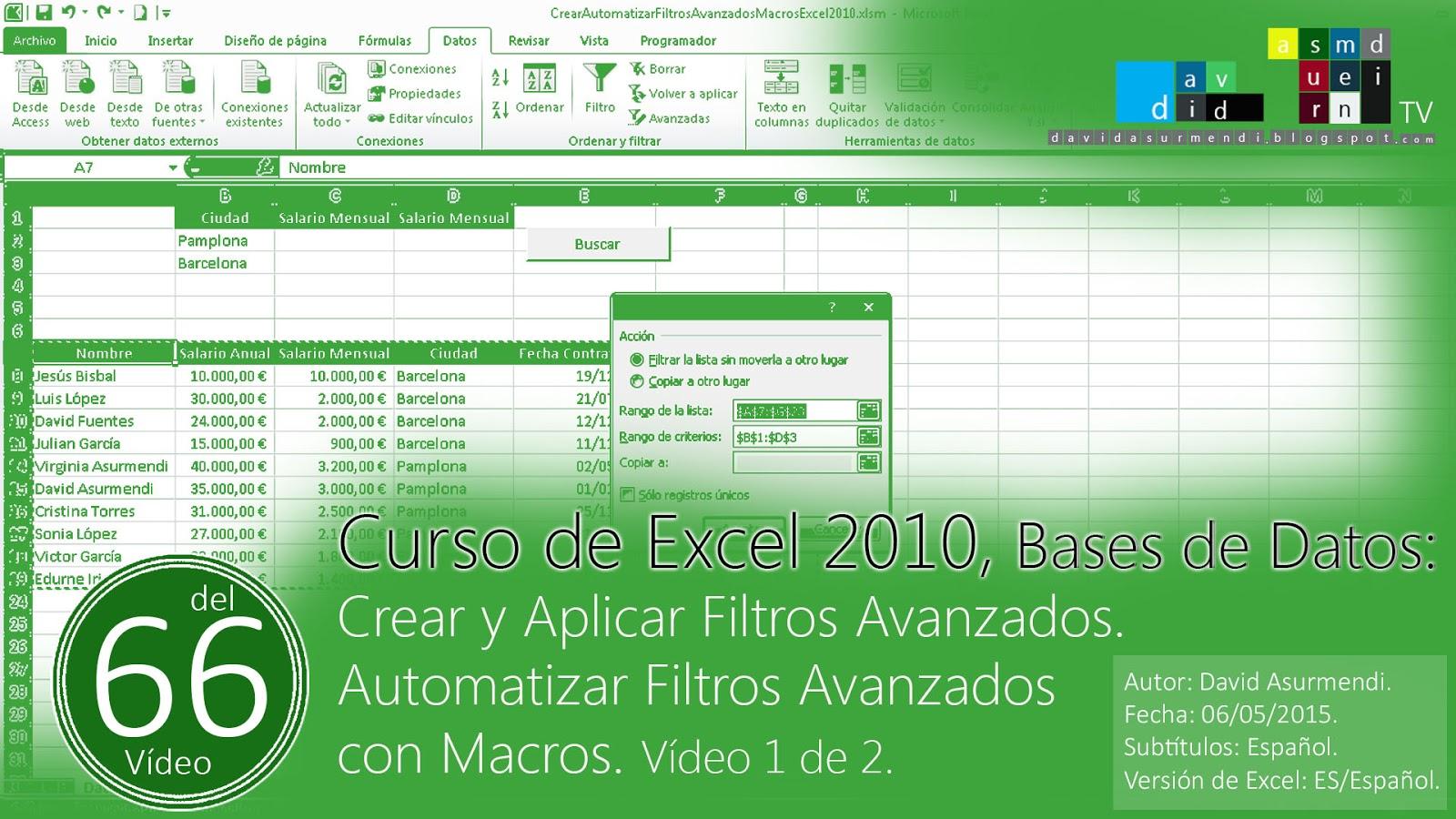 : descargar curso excel 2010 gratis espanol libro vba excel 2010 ...