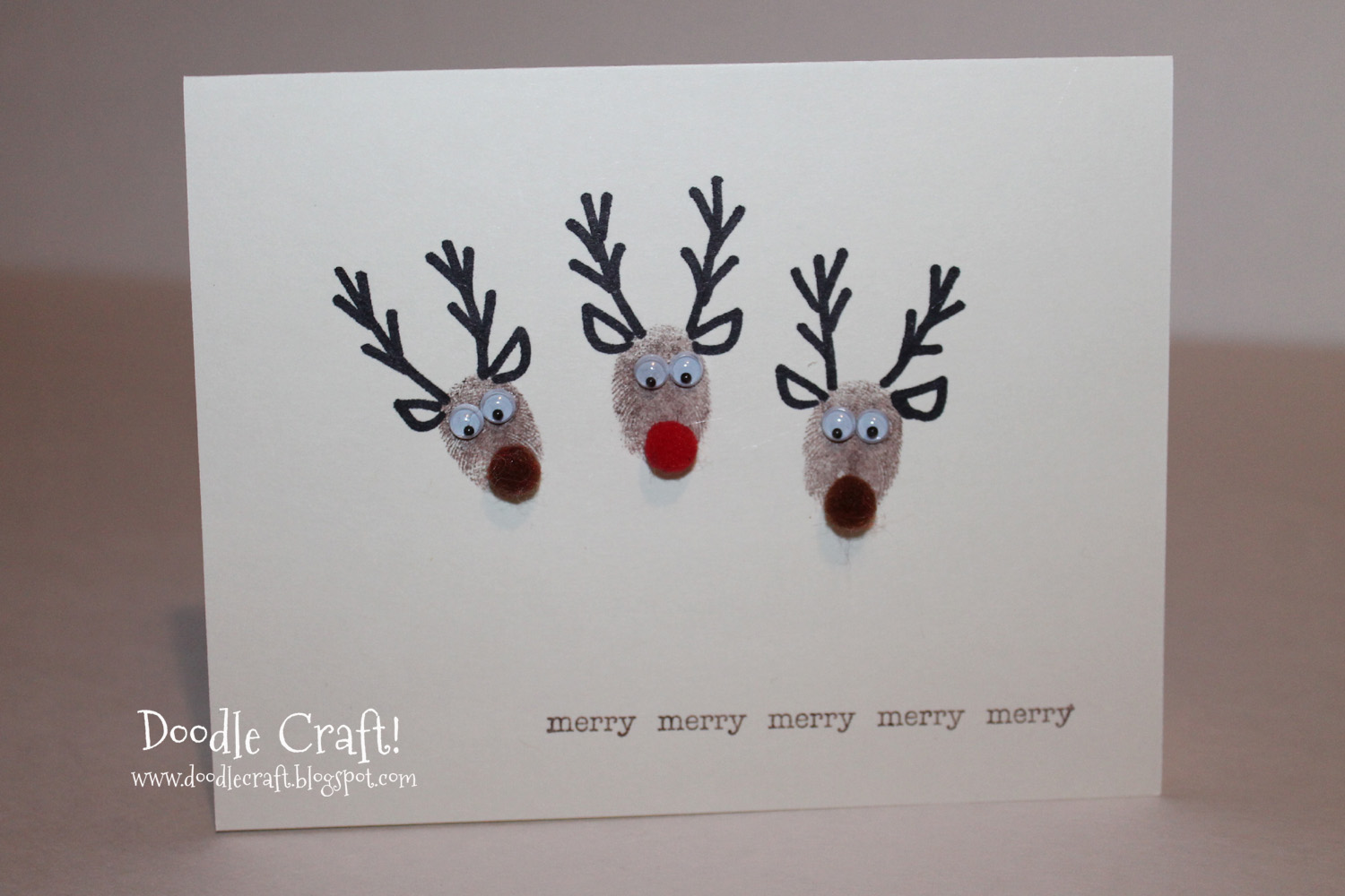Reindeer rudolph craft quotes quotesgram for Reindeer christmas card craft