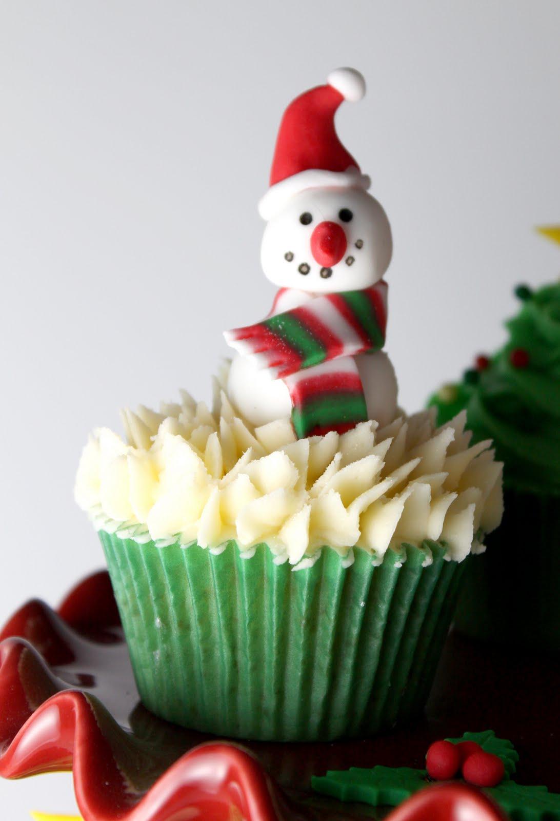 Al Baño Navidad Ha Llegado:Christmas Cupcakes