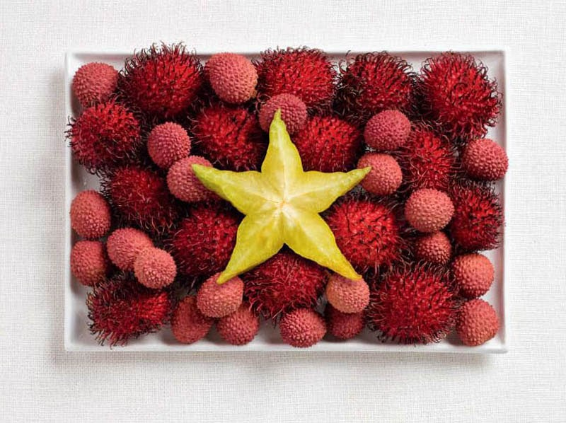 18 National Flags Made From Food - Vietnam