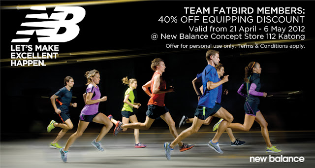 New Balance Equipping Discount for FatBirds