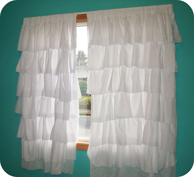 Ruffled Curtains Tutorial