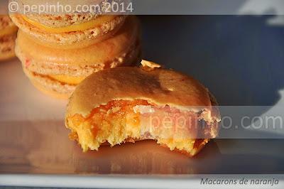 Macarons de naranja