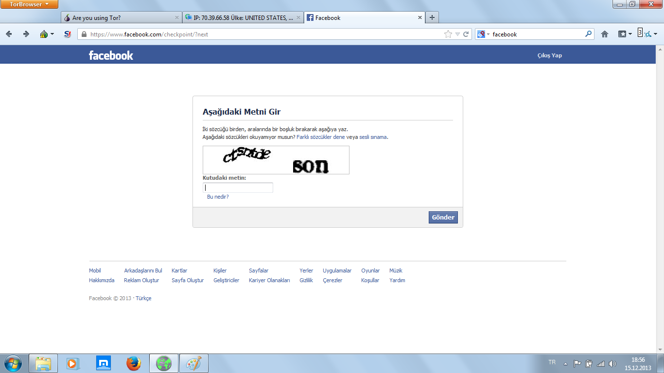 facebook güvenlik kontrolü