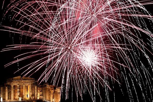 Fuegos Artificiales, año nuevo 2014, Roma, Italia