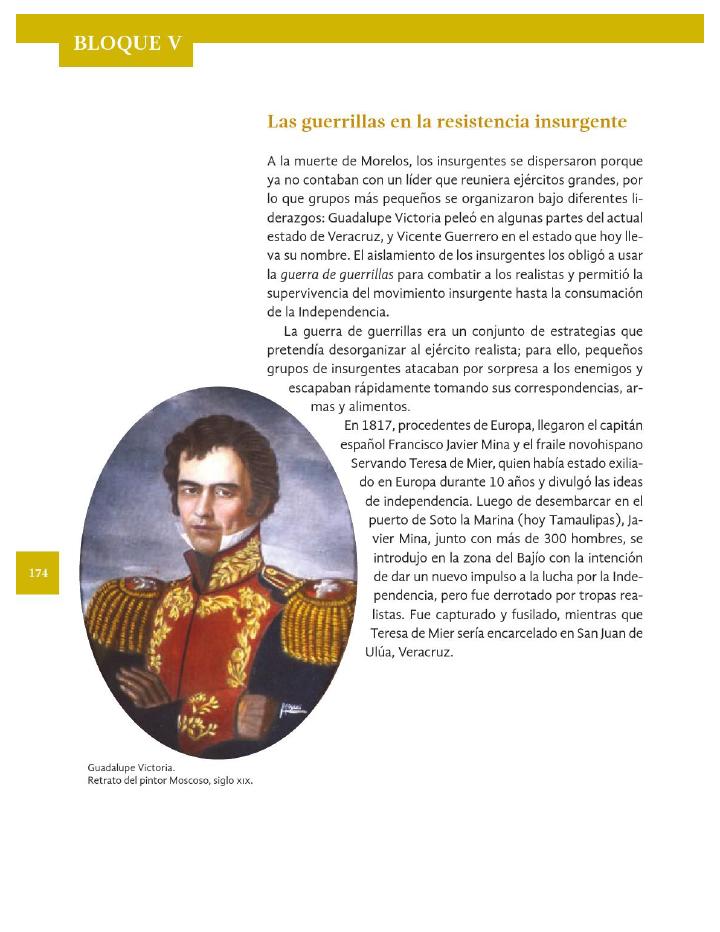 Las guerrillas en la resistencia insurgente - Historia 4to Bloque 5 2014-2015