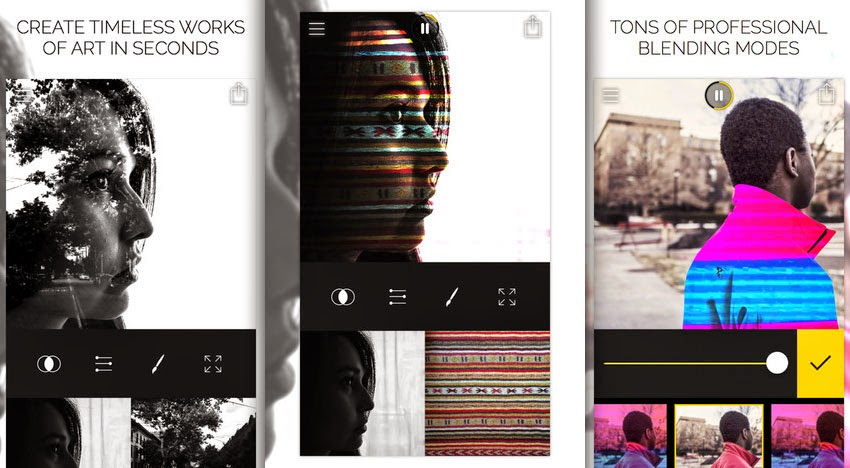 تحميل تطبيق Fused مجاني لدمج صورتين أو مقطعين فيديو و إضافة المؤثرات عليها لأجهزة الآيفون و الايباد.