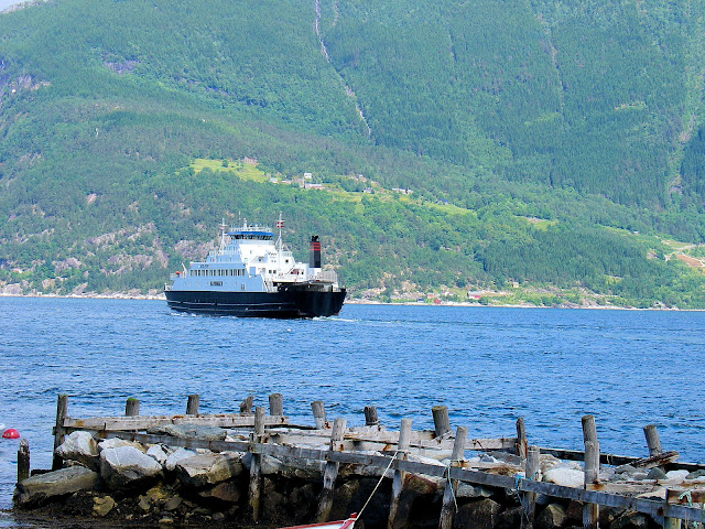 The ferry that brought us to Utne, Norway.