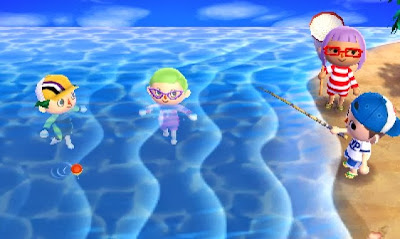 Animal Crossing New Leaf - beach time with friends