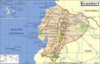 Mapa de ECUADOR, Atlas