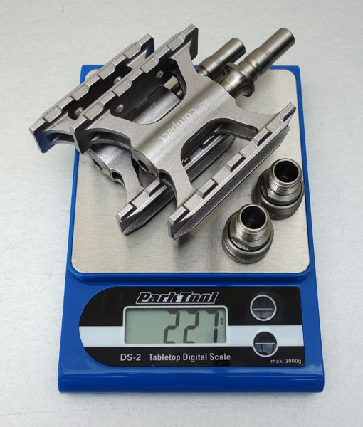 MKS Compact EZY Quick Release Pedals Ti-Axis