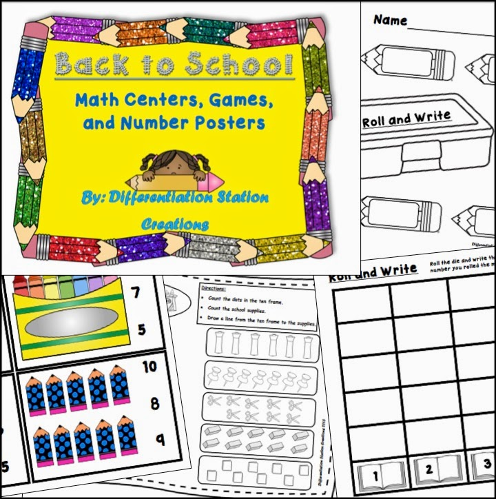 http://www.teacherspayteachers.com/Product/Back-to-School-Math-Centers-Games-Printables-Posters-750040