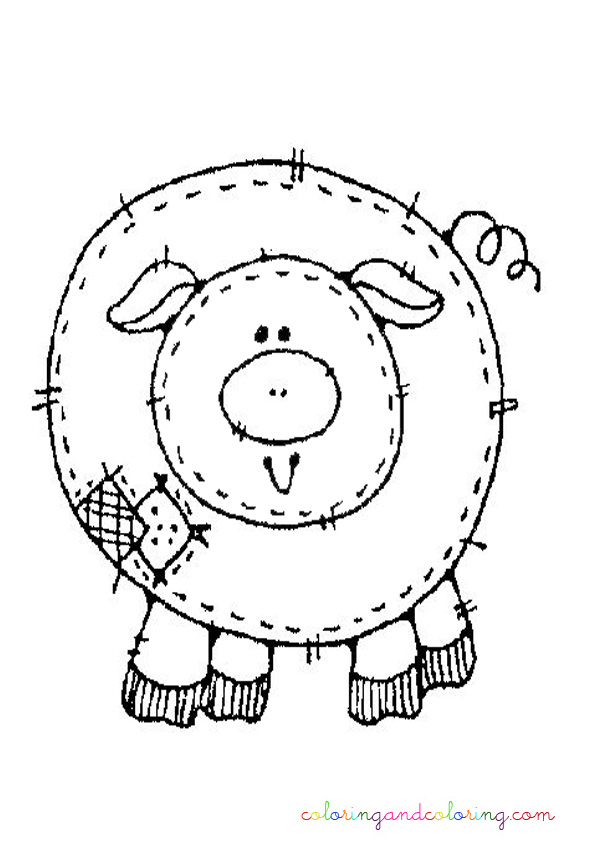 Cute Pig Coloring Page 231x300 Pig Coloring Pages Dog Pig Coloring Pages Http Www Supercoloring