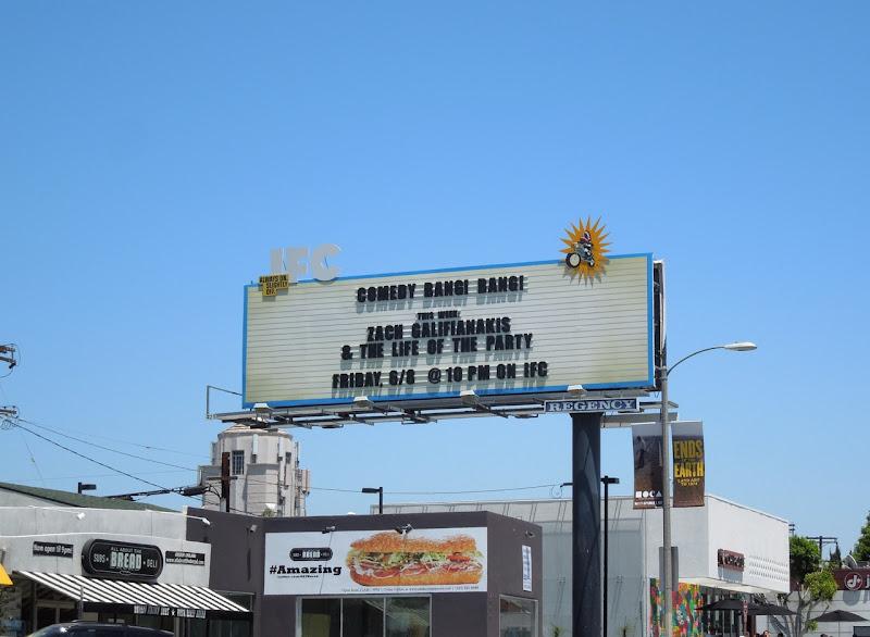 IFC Comedy Bang Bang Zach Galifianakis billboard