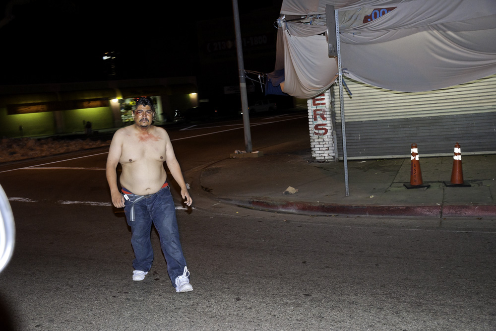 what streets are prostitutes on in los angeles