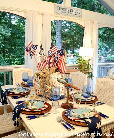Patriotic Nautical Table