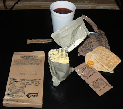 MRE Menu 16, potato cheddar soup
