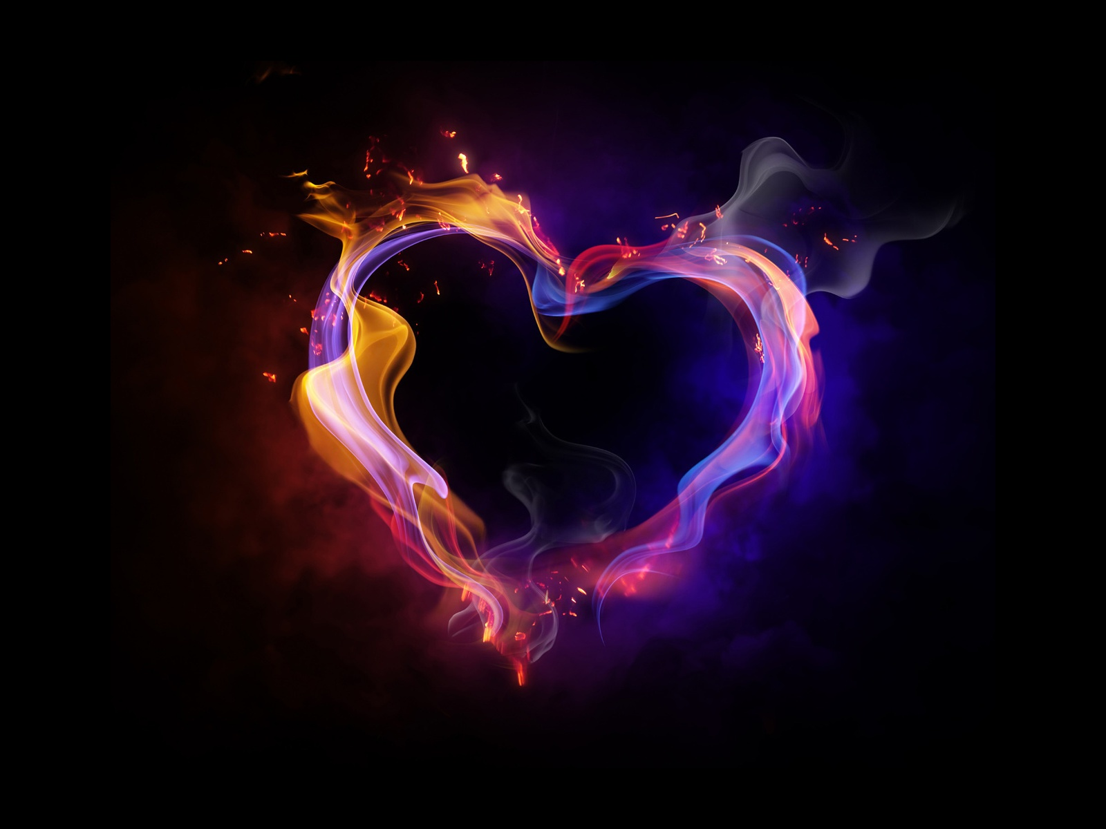 Fire Heart Love HD Wallpaper 1080p Walls 9