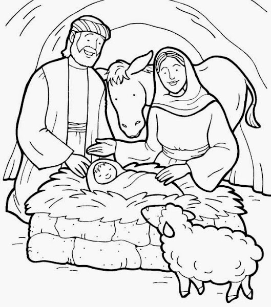 para colorear: Nacimiento de Jesus ~ Dibujos Cristianos Para Colorear