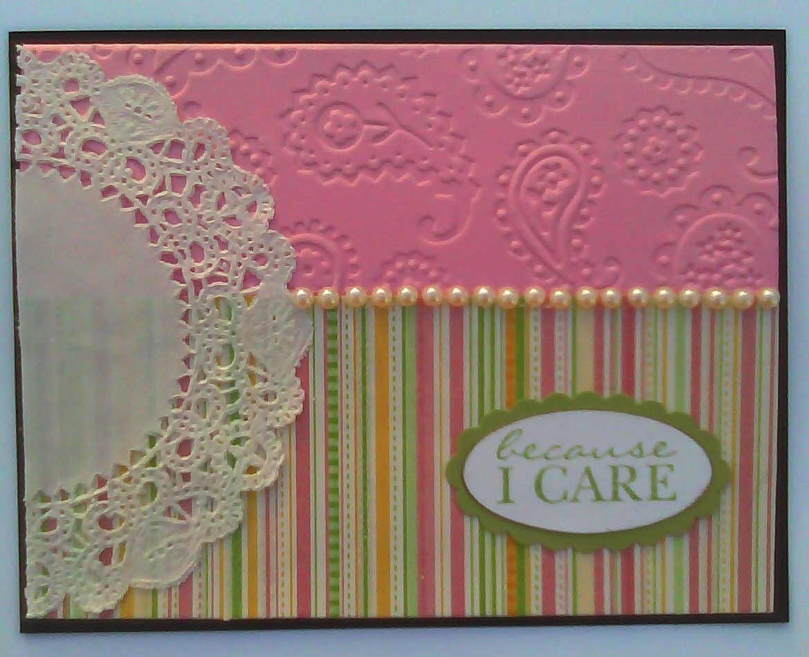 Sistochris scrapbooking and paper crafts paisley doily hand stamped paisley doily hand stamped greeting card m4hsunfo