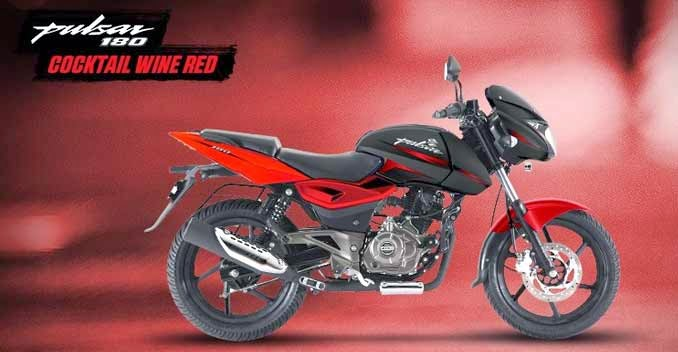 Bajaj Pulsar 180 wine red