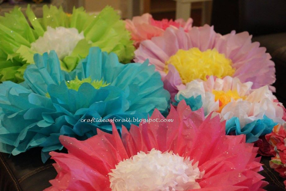 Craft ideas for all handmade giant tissue flowers birthday decoration for a craft birthday