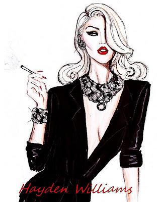 hayden williams fashion illustrations blonde vixen by. Black Bedroom Furniture Sets. Home Design Ideas