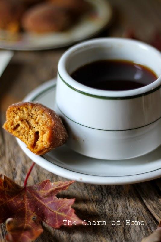 Cinnamon and Sugar Mini Pumpkin Muffins