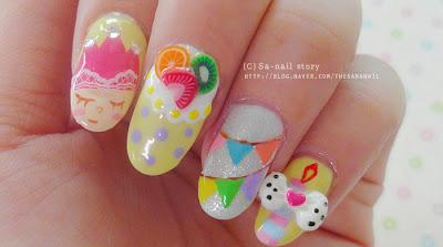 Happy Birthday Nail Art, Baby Nail colors