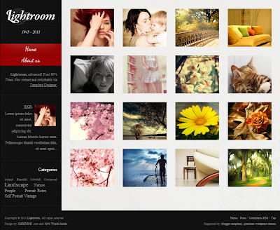 Lightroom advanced Photo Blog Template