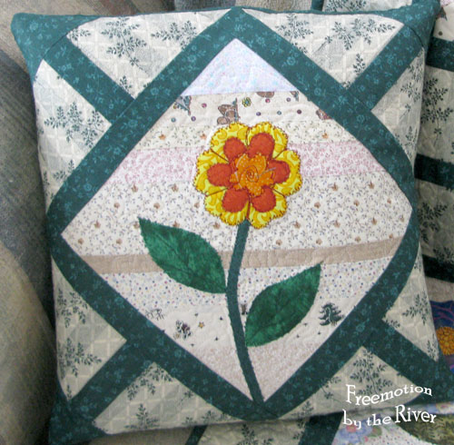 Flower Maze Pillow at Freemotion by the River