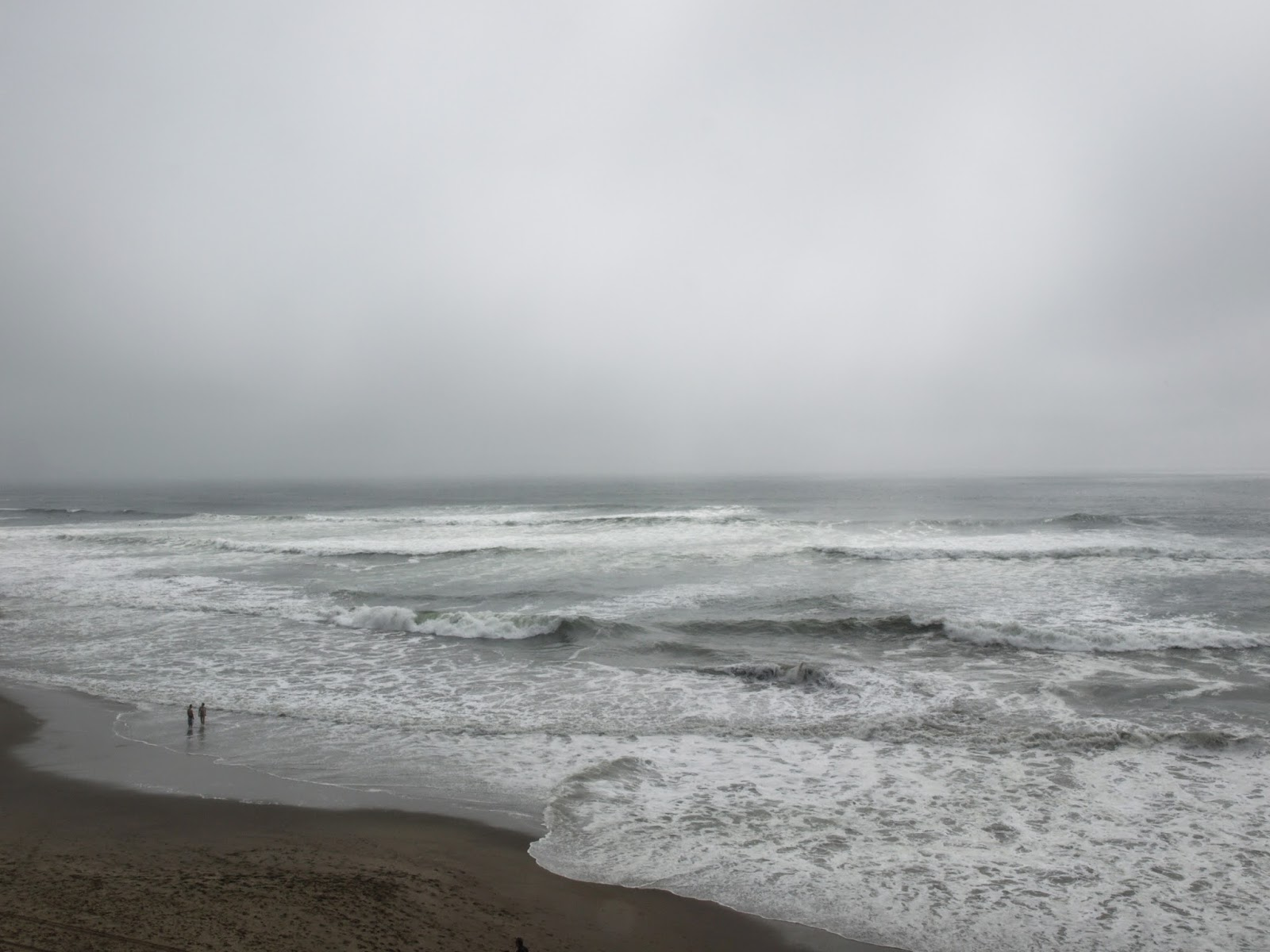 grey and wild Ocean Beach, San Francisco