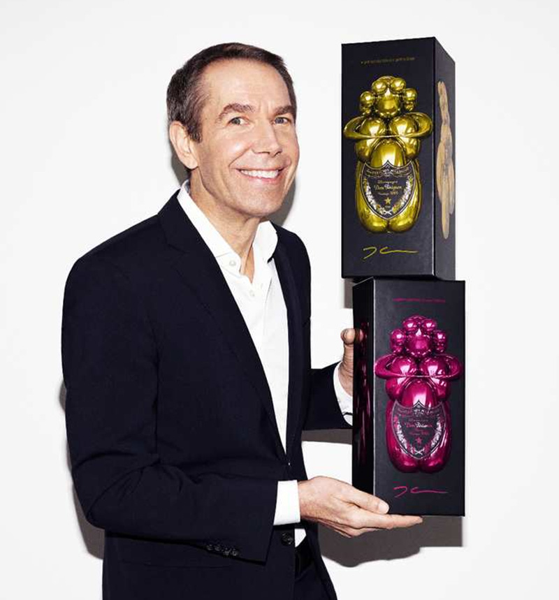 Jeff Koons and Dom Pérignon
