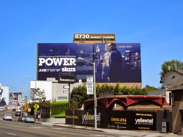 Giant Power series premiere Starz billboard Sunset Strip