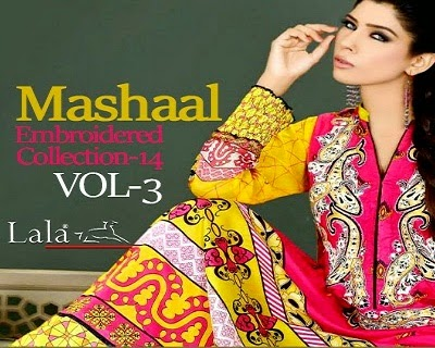 Mashaal Embroidered Dresses by Lala Textiles