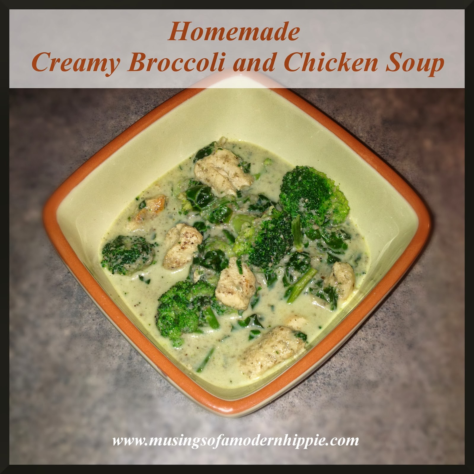 Creamy Broccoli and Chicken Soup | Musings of a Modern Hippie