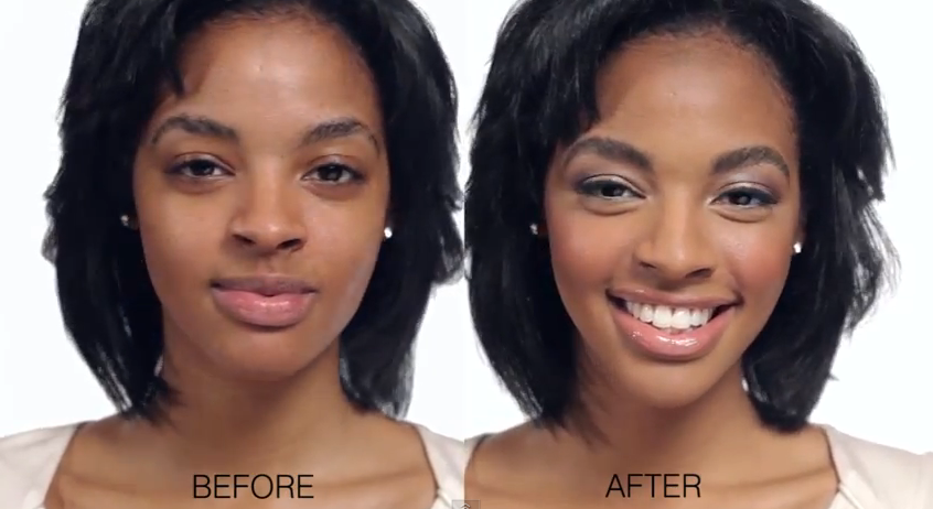 Make Up And Make Up Transformations On Pinterest | Dark Skin Contouring And Makeup