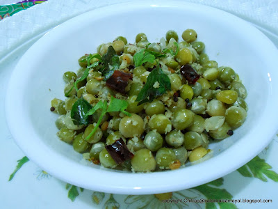 pattani sundal [ green pea stir fry ]