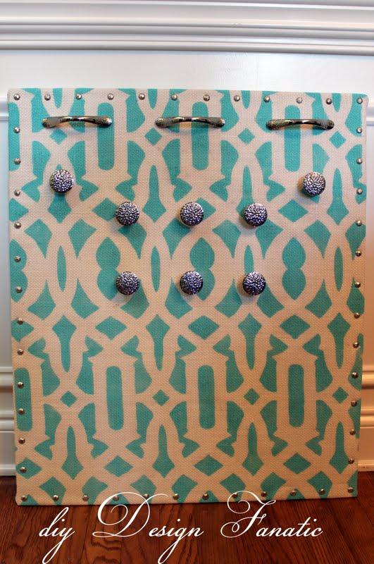diy Design Fanatic How To Make A Fabulous Jewelry Organizer