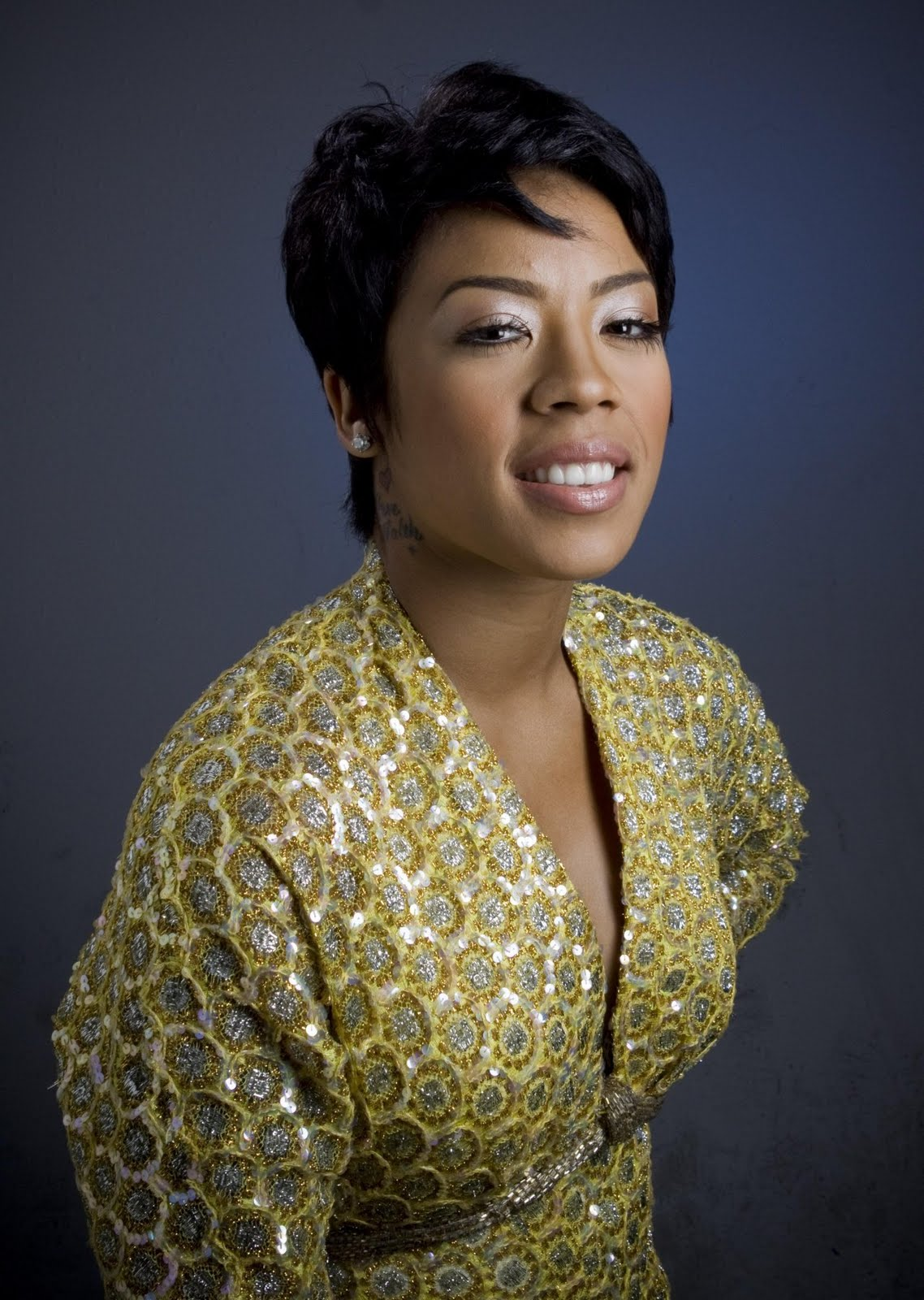Celebrity Hairstyles And Tattoo Pictures Keyshia Cole Short Haircut